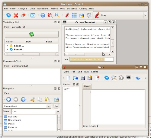 Qt Front-end untuk GNU Octave