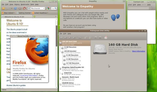 Aplikasi di Ubuntu 9.10