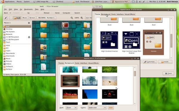 Ubuntu 9.10 Folder - Theme - Wallpaper