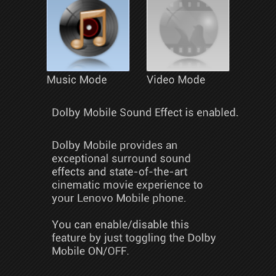 Dolby Mobile Sound